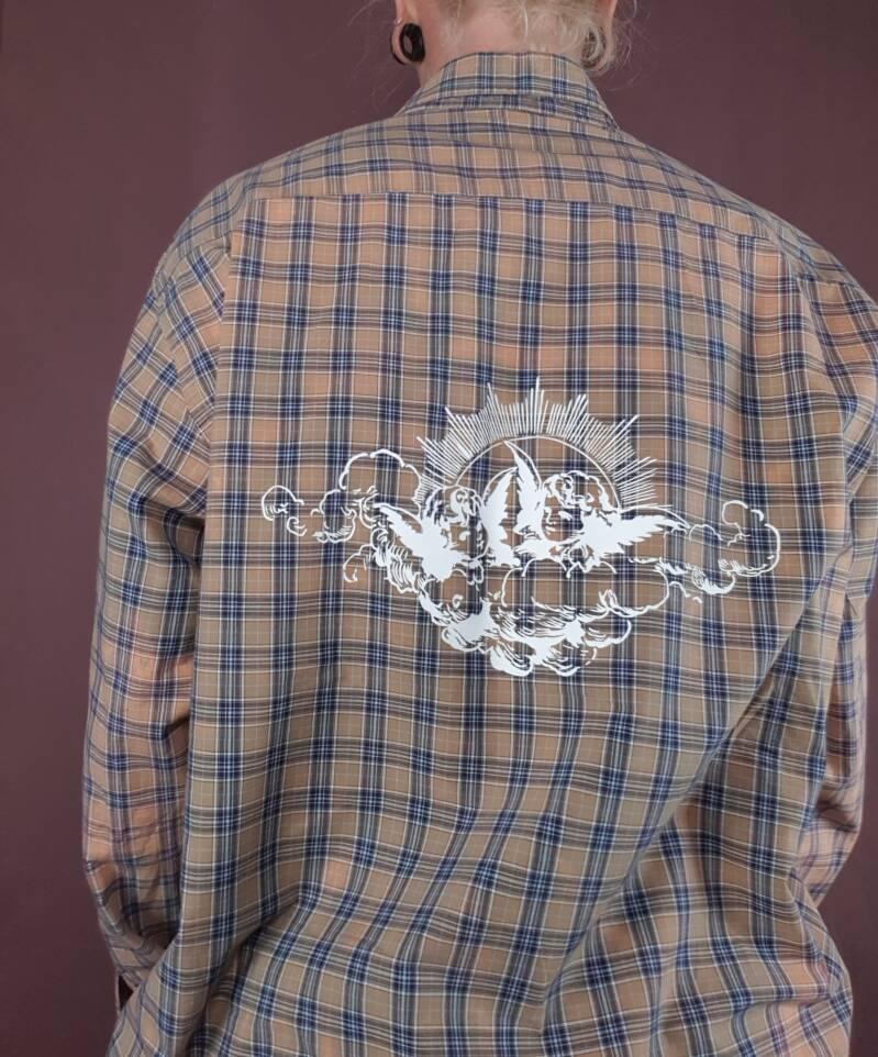 Upcycled shirt Cherub