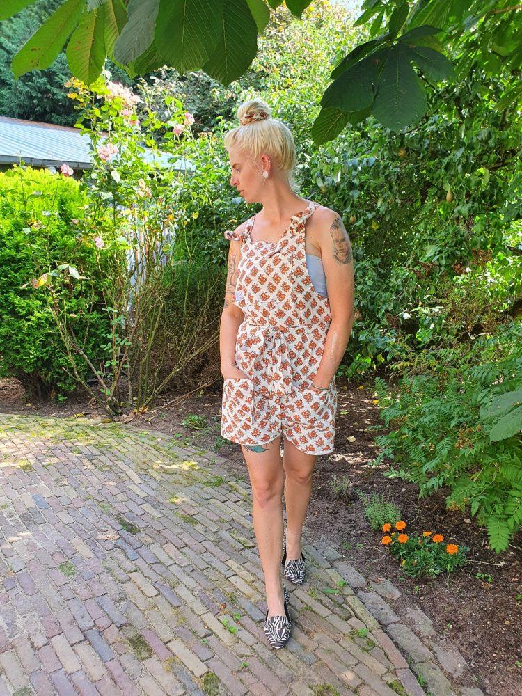 Dungaree shorts Vintage Floral