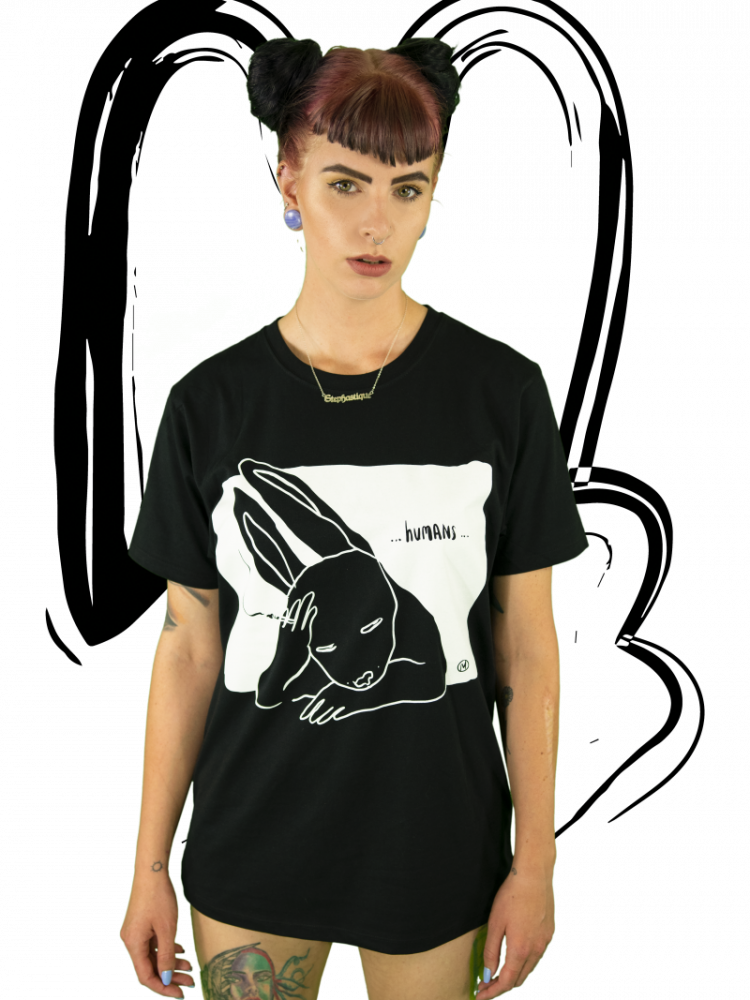 T-shirt Humans BLACK