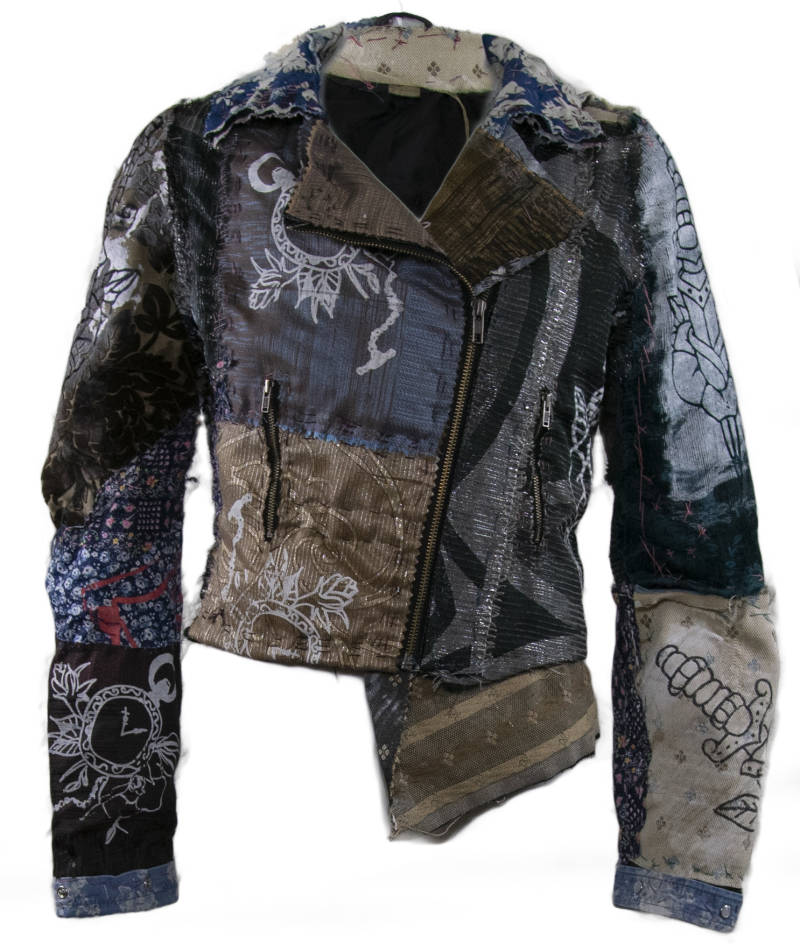 Bikerjacket upcycled patches