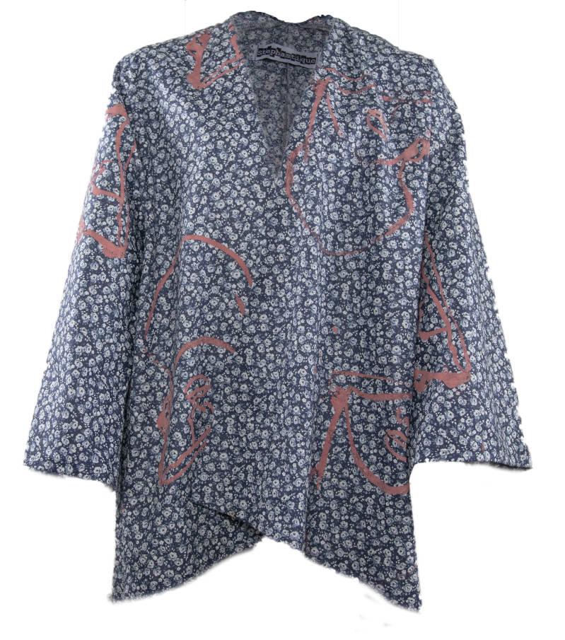 Kimono flower print
