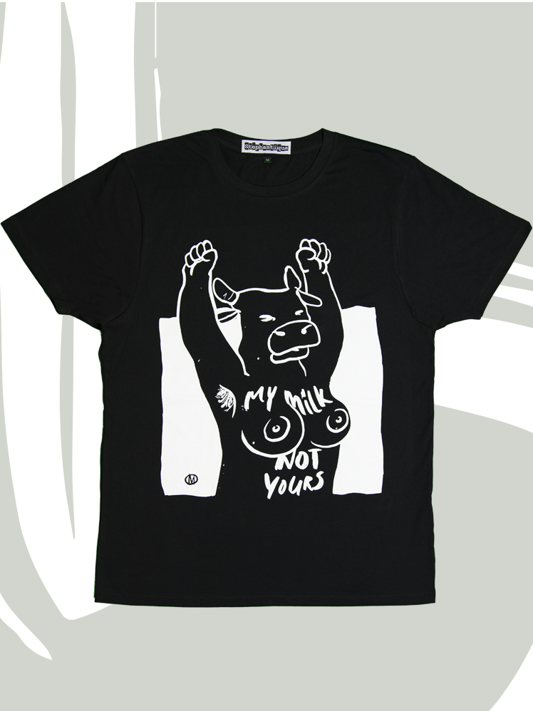 T-shirt My milk not yours BLACK