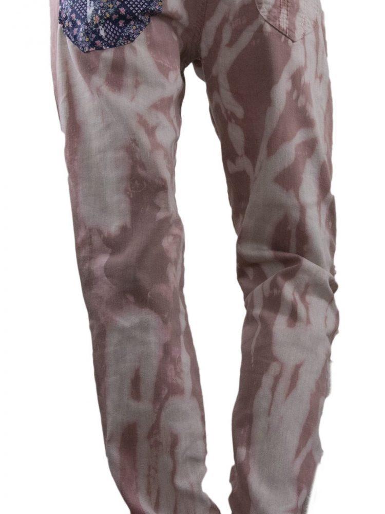 Splatter print jeans