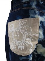 pants splatter blue and white backdetail