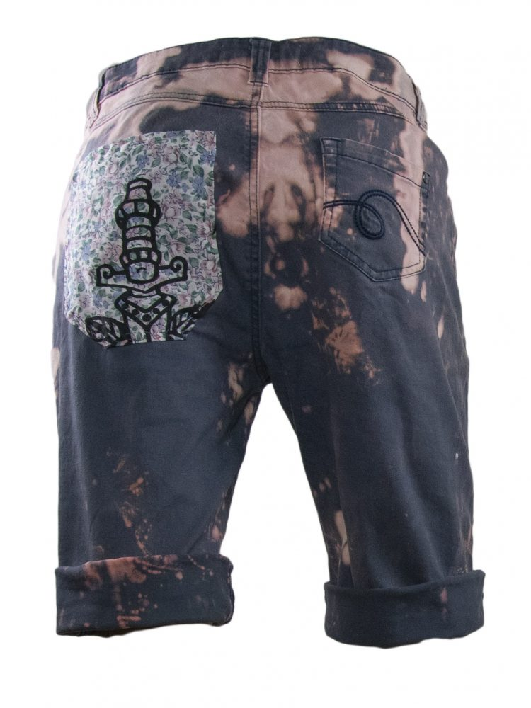 Splatter print shorts