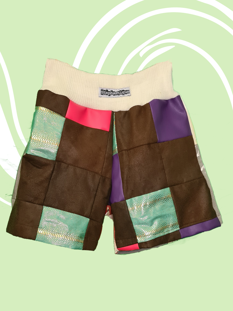 Cheeky Patchwork Shorts